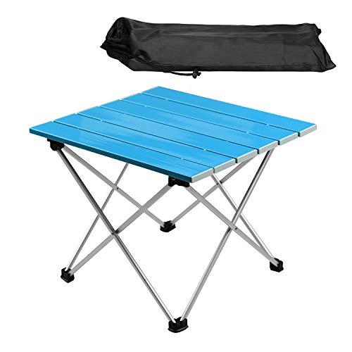 Lychee Mesa de camping portátil al aire libre, mesa plegable, de aluminio,...
