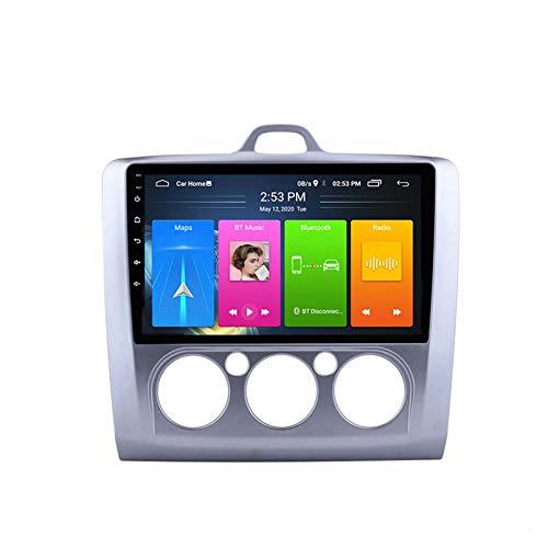 SDFLKH IPS 9 Pulgadas Android10 Navegación GPS Imagen De Pantalla Dividida En Imagen Radio De Coche para 2005-2012 Ford Focus Exi AT Sin DVD(Size:A,Color:4G+WiFi:2+32G)