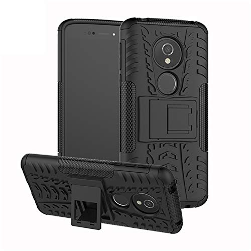betterfon | Outdoor Handy Tasche Hybrid Hülle Schutz Hülle Panzer TPU Silikon Hard Cover Bumper für Motorola Moto E5 / G6 Play Schwarz