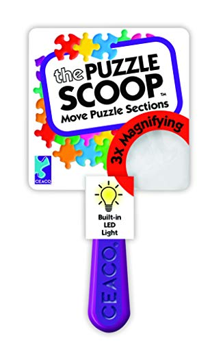Ceaco The Puzzle Scoop – A Lifting, Moving, Illuminating, and Magnifying Puzzle Accessory for All puzzlers