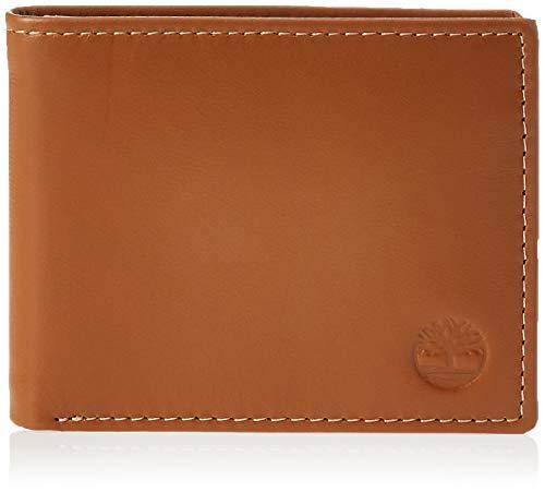 Timberland Herren Leather Wallet with Attached Flip Pocket Reisezubehör - zweifach gefaltetes Portemonnaie, hautfarben, Einheitsgröße