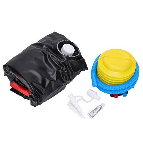Niunion Aufblasbarer Boxsack, Langlebiger aufblasbarer Boxsack Punching Kick Training Tumbler Bop Bag mit Air Inflator Pedal Pump Red