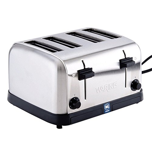 Waring (WCT708) Four-Compartment Pop-Up Toaster Silver, 4-Compartment