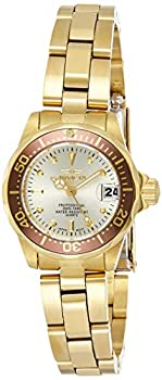 Invicta Women s Pro Diver 23.5mm Gold Tone Stainless Steel Quartz Watch Gold  Model  12527