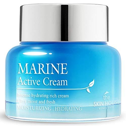 THE SKIN HOUSE marine aktive creme (50 ml, 1,69 unzen). feuchtigkeitscreme mit hyaluronsäure instantantly hydrate und befeuchtet die haut. tief feuchtigkeitsspendend für...