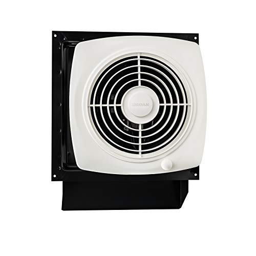 Broan-Nutone 509S Through-the-Wall Ventilation Fan, White Square Exhaust Fan, 6.5 Sones, 180 CFM, 8""