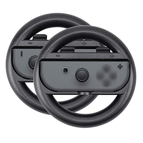 Xcellent Global Switch Contrôleur de Volant Joy-Con Wheel pour Nintendo Switch (Pack de 2) HG250