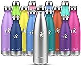 KollyKolla Botella de Agua Acero Inoxidable, Termo Sin BPA Ecológica, Botellas Termica Reutilizable...