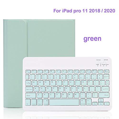 para iPad Pro 11 Funda con Teclado Bluetooth para iPad 10,2 7a generación 9,7 2017 2018 5th 6th Air 1 2 3 Pro 9,7 10,5 Mini 4 5 Cubierta-para iPad 11 Verde