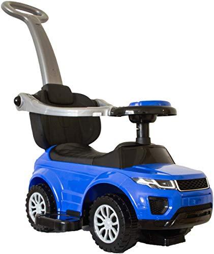 BeachandPool Babyrutscher blau mit Schiebestange und Musik, Rutscherauto, Babyfahrzeug Rutscher