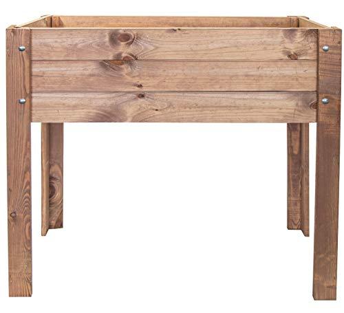 mgc24® Hochbeet - Kiefernholz Dunkelbraun rechteckig, für Garten/Terrasse/Balkon - 80 x 40 x 78 cm