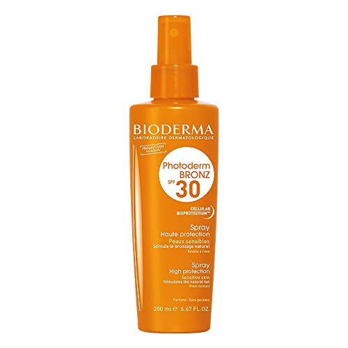 PHOTODERM BRONZ Spray SPF 30 200ml  Protection optimale UVA-UVB – Stimule le bronzage   Peaux claires et sensibles
