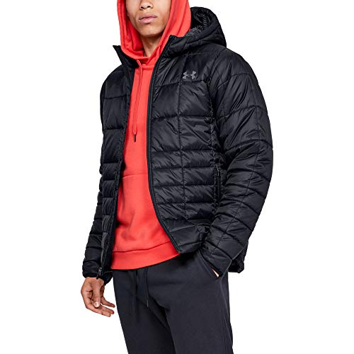 Under Armour Armour Insulated Hooded Veste Homme Noir FR : M (Taille Fabricant : Taille MD)