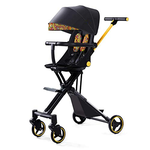 Bospyaf Foldable Baby Stroller Can Be Seated, Reclining, High Landscape, Lightweight, Removable And Washable Baby Stroller,C