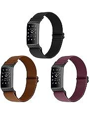 WNIPH Nylon riemen Compatibel voor Fitbit Charge 4/Fitbit Charge 4 SE/Fitbit Charge 3/Fitbit Charge 3 SE, Verstelbare Nylon Elastische Zachte Ademende Vervanging Sport Polsbandjes voor Vrouwen Mannen (3 Pack)