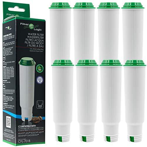 8 x FilterLogic CFL-701B Filtre à eau remplace CLARIS F088 / Claris Pro Aqua Cartouche filtrante pour Melitta / Krups / Rowenta / Bosch / Neff / SEB Moulinex / Tefal / AEG machine à café automatique