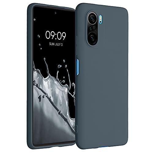 kwmobile Hülle kompatibel mit Xiaomi Poco F3 - Hülle Silikon - Soft Handyhülle - Handy Hülle in Slate Gray