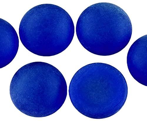2pcs Mate de Cristal de Zafiro Azul Escarchado Ronda Cúpula de Cristal checo las planas Cabujón de 18