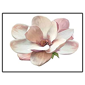 Classroom Rug Porch Rug Vector Illustration of A Magnolia Flower Isolated On White Background 203406988 01 Area Rug for Living Room Soft Child Bedroom Mat 6.6 X 10 Ft