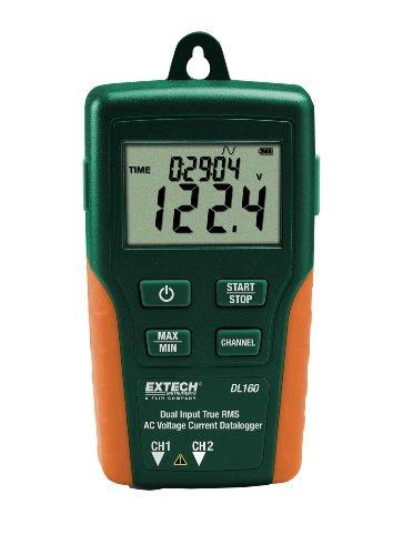 Extech TRMS Wechselspannung/Wechselstrom-Datenlogger mit Doppeleingang, 1 Stück, DL160