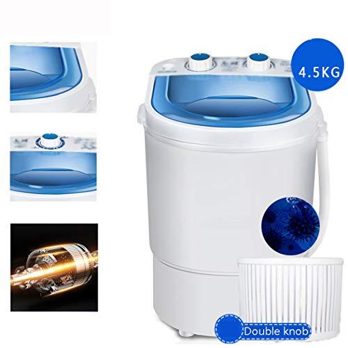 LanPerro Verbesserte Tragbare Waschmaschine, Mini Halbautomatische Waschmaschine Und Wäscheschleuder, Einbauschränke Ablaufpumpe, Für Camping Dorms Geschäftsreise College-Zimmer,Double knob