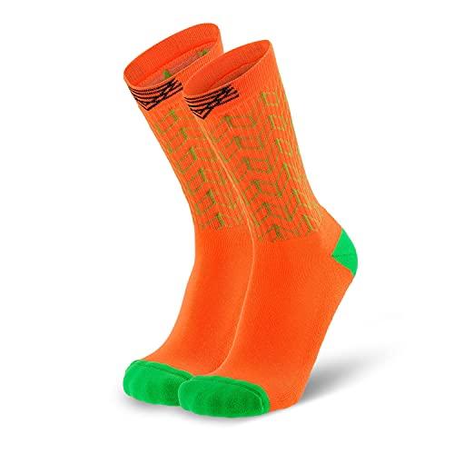 Splends Tennissocken Kick Serve Orange Unisex, Damen & Herren - lange Socken aus Coolmax - ideale lustige Thermosocken für Volleyball, Badminton, Squash, Motorsport oder Business - 39-42 (39)