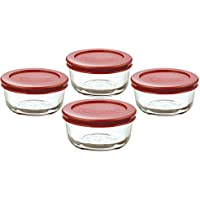 Deals on Anchor Hocking 2-Cup Glass Storage Set with Lids, 6-Piece
