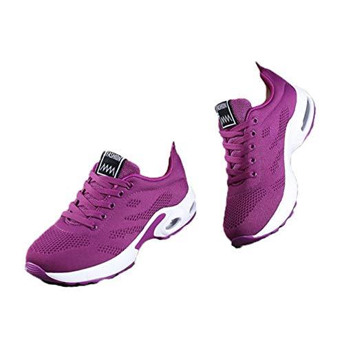 Calzado Casual para Mujer Calzado Casual Transpirable de Malla para Primavera y otoño Múltiples Colores para Elegir Zapatos cómodos con Plataforma con Cordones Calzado para Todos los Partidos