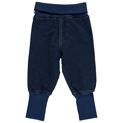 Maxomorra Baby Rib Pants Sweat Solid Indigo 98/104