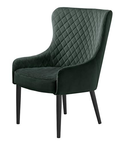PKline Velours Sessel Otis grün Relaxsessel Polstersessel Clubsessel Ohrensessel Lounge
