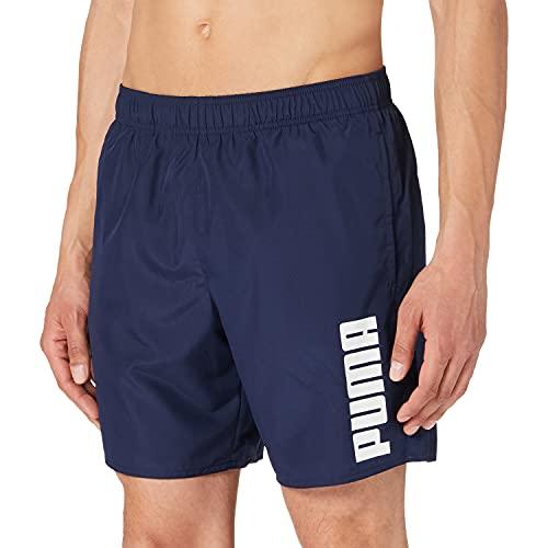 PUMA Swim Men's Mid Shorts Bañador, Azul Marino, L para Hombre