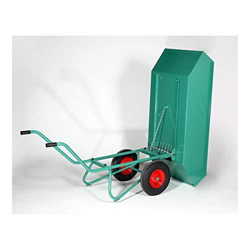 Kippkarre - Inhalt 450 l, pulverbeschichtet - Schubkarren Einradkarren