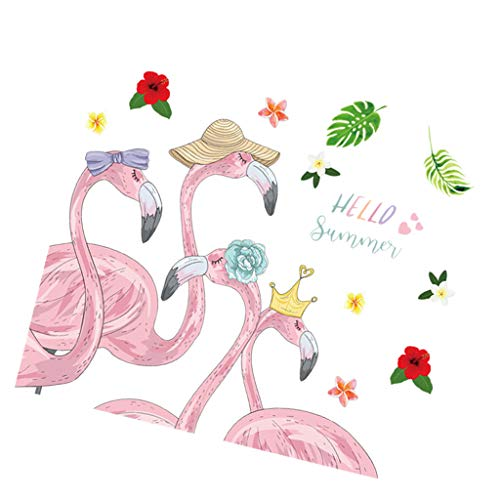 Baoblaze Flamingo Vinilo Decorativo Arte Pegatinas DIY Hogar Familia Decoración Pared Arte Cartel para