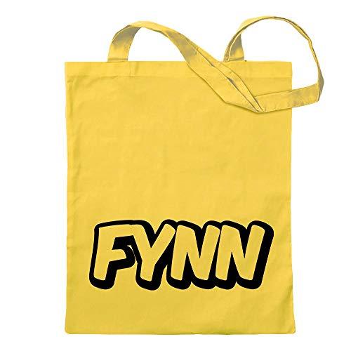 Kiwistar Fynn nome giovane borsa di juta Stampa design motivo stampato