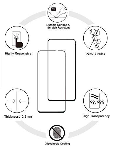 EasyLifeGo لهاتف Xiaomi Redmi Note 10 5G / Xiaomi Poco M3 Pro 5G Kickstand Case with Tempered Glass Screen Protector [قطعتان]، غطاء جراب هجين شديد التحمل مقاوم للخدش، أسود