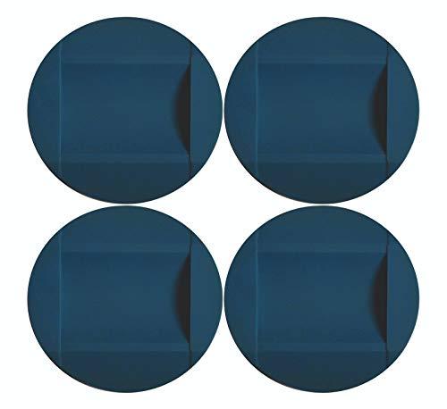 4 Discos de goma para frenar ruedas antideslizante silicona seguridad hogar sillas oficina camas cunas mesas carros suelos resbalón (Azul Claro)