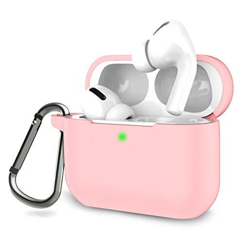 Funda Compatible AirPods Pro con Llavero, Funda Protectora de Silicona Suave para Apple AirPods 3 Estuche de Carga 2019