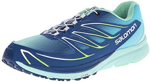 Salomon Sense Manatra 3, Zapatillas de Trail Running Mujer, Azul (Gentiane/Igloo Blue/Firefly Green), 36 EU