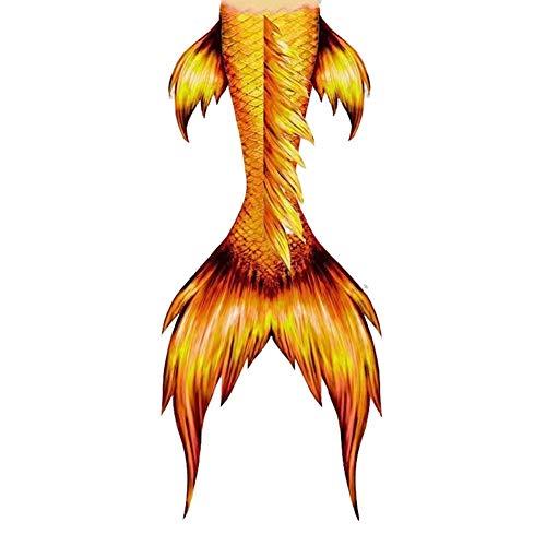 Coda di Sirena, Coda A Sirena per Ragazza Bikini, Regalo di Compleanno Femminile (Disponibile in più Colori) Set Bikini nuotabile a Coda di Sirena (Color : Style-P, Size : Tailored)