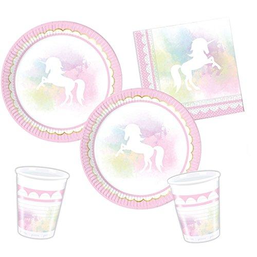 Procos 10118515 Partyset Einhorn Believe in Unicorn
