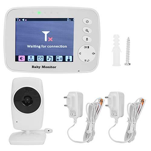 Monitor de Bebé de 3.2 Pulgadas, Monitor de Bebé Inalámbrico Digital, Monitor de Temperatura, Monitor de Video para Bebés con Función de Música para Bebés, Ancianos,100‑240V(Enchufe de la UE)