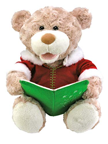 "Cuddle Barn - Storytime Teddie | Animated Storytelling Holiday Bear Stuffed Animal Plush Toy Reads the Story ""T'was the Night Before Christmas,"" 10"""