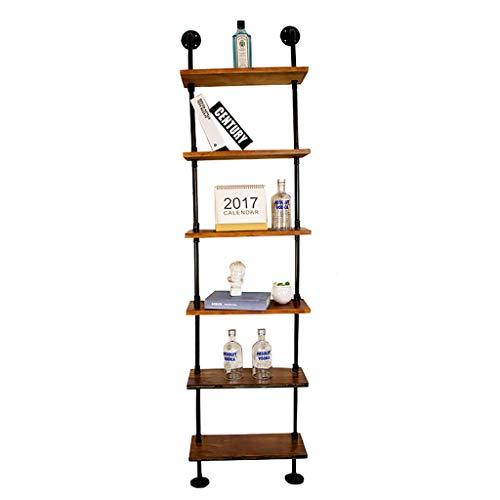 Cdbl American LOFT Retro Wandmontage Iron Rack Woonkamer Achtergrond Decoratieve Frame Effen Hout Decoratieve Stand Wandplank (Maat: 50 × 20 × 200cm) Plank
