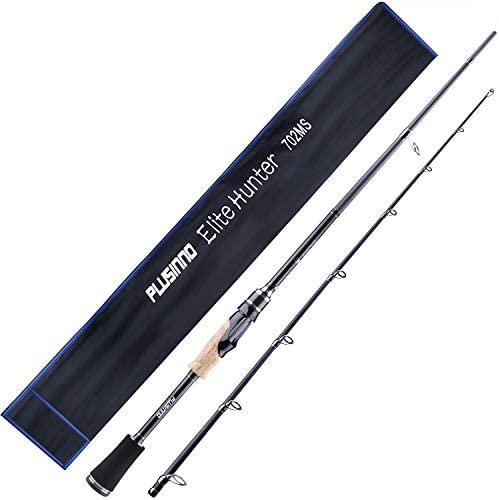 PLUSINNO Two Piece Spining Casting Fishing Rod Graphite Medium Light Fast Action Bass Baitcasting product image