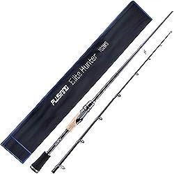 professional PLUSINNO 2 parts spun cast rod, medium weight graphite perch, fast spring deflection …