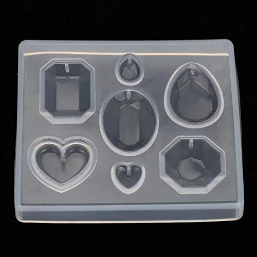 Silicona, gema facetada conveniente flexible reutilizable, para manualidades de bricolaje llavero pendientes collar pulseras para resina joyería para bricolaje pendiente