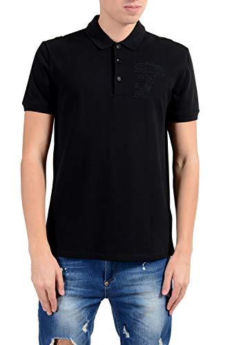 Versace Collection Men's Black Short Sleeve Polo Shirt Size US 2XL IT 56