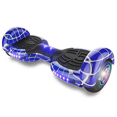 """TPS Power Sports Hoverboard Self Balancing Scooter for Adults and Kids 300W Dual Motor 6.5"""" Wheels Bluetooth Speaker LED Lights Self Balance Hoverboards Great Gift UL2272 Certified (Blue)"""