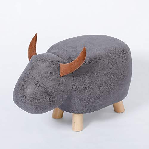PLL mode creatief leuke kleine grijze runenschoenen verandering bank bank huis voetenkruk lage kruk massief houten sofa kruk