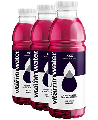 3 Pack 500ml Glaceau Vitamin Water Pomegranate Accai Blueberry Sugar Free Drink Zero kcal